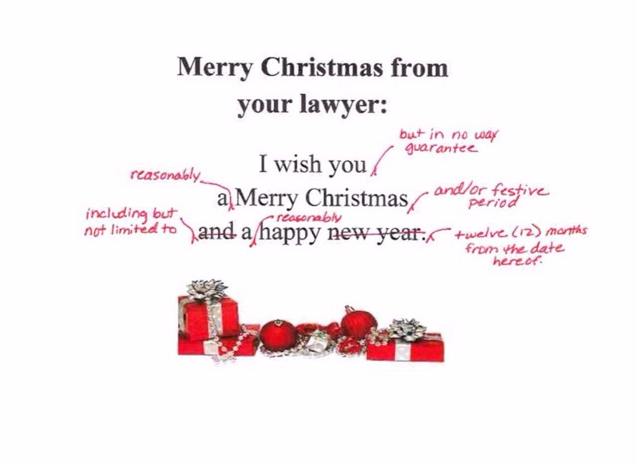 Merry Christmas from your Lawyer