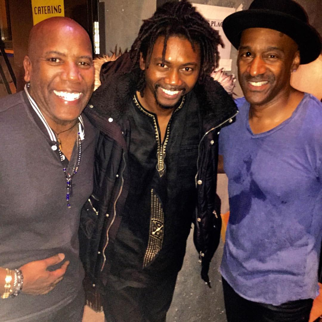 Herve Samb w Marcus Miller and Nathan-East